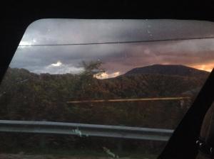 Auf dem dunklen Berg dort waren wir - ursprünglich